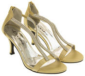 Ladies Divine Satin Diamante High Heel Bridesmaid Shoes Thumbnail 11