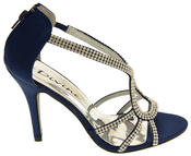 Ladies Divine Satin and Diamante Strappy Wedding Heels Thumbnail 7