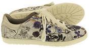 Ladies s.Oliver Silver Floral Casual Plimsolls Womens Butterfly Floral Pumps Thumbnail 4