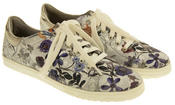 Ladies s.Oliver Silver Floral Casual Plimsolls Womens Butterfly Floral Pumps Thumbnail 5
