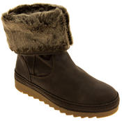 Womens JANA Leather Effect Faux Fur Lined Ankle Boots Thumbnail 7