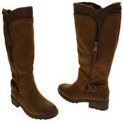 Ladies Marco Tozzi Faux Leather Faux Fur Lined Boots Thumbnail 6