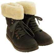 Ladies Keddo Grey Faux Leather Ankle Boots Faux Fur Lined Boots Thumbnail 5