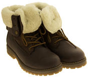 Womens KEDDO Hi Top Warm Wool Lined Ankle Boots Thumbnail 8