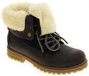 Womens KEDDO Hi Top Warm Wool Lined Ankle Boots Thumbnail 2