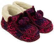 Ladies Coolers Winter Fur Lined Fairisle Slipper Boots Thumbnail 10