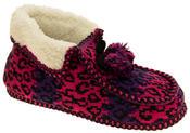 Ladies Coolers Winter Fur Lined Fairisle Slipper Boots Thumbnail 7