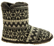 Mens Coolers Fairisle Faux Fur Lined Snowflake Boot Slippers Thumbnail 3
