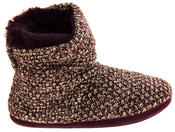 Ladies Coolers Warm Knitted Winter Fur Lined  Slipper Boots Thumbnail 8