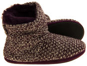 Ladies Coolers Warm Knitted Winter Fur Lined  Slipper Boots Thumbnail 9