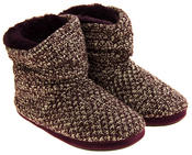 Ladies Coolers Warm Knitted Winter Fur Lined  Slipper Boots Thumbnail 10