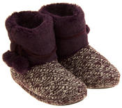 Ladies 'Coolers'  Warm Fur Lined Knitted Slipper Boots Thumbnail 10