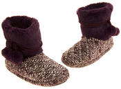Ladies 'Coolers'  Warm Fur Lined Knitted Slipper Boots Thumbnail 12