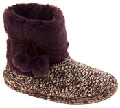 Ladies 'Coolers'  Warm Fur Lined Knitted Slipper Boots Thumbnail 7