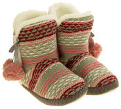 Ladies 'Coolers' Knitted Faux Fur LIned Boot Slippers Thumbnail 10
