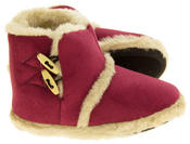 Womens Coolers Warm Winter Faux  Fur Lined Toggle Slipper Boots Thumbnail 7