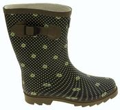 Womens Floral Calf Length Rubber Festival Wellington Boots Thumbnail 3