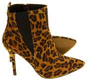 Womens Ravel Coleman Velvet Stiletto Heel Pointed Toe Ankle Boots Thumbnail 10
