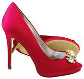Ladies Sabatine Satin Diamante Cluster Bridal Wedding Shoes Thumbnail 9