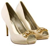 Ladies Sabatine Satin Diamante Cluster Bridal Wedding Shoes Thumbnail 10