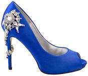"""Ladies Sabatine Satin Diamante High Heels 4.5"""" Wedding Shoes Thumbnail 4"""