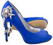 """Ladies Sabatine Satin Diamante High Heels 4.5"""" Wedding Shoes Thumbnail 5"""
