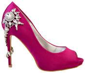 """Ladies Sabatine Satin Diamante High Heels 4.5"""" Wedding Shoes Thumbnail 8"""