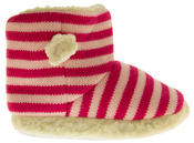Girls De Fonseca Tavola Stripey Winter Boot Slippers Thumbnail 3
