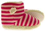 Girls De Fonseca Tavola Stripey Winter Boot Slippers Thumbnail 4