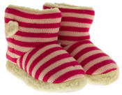 Girls De Fonseca Tavola Stripey Winter Boot Slippers Thumbnail 5