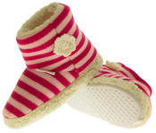 Girls De Fonseca Tavola Stripey Winter Boot Slippers Thumbnail 7