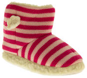 Girls De Fonseca Tavola Stripey Winter Boot Slippers Thumbnail 2