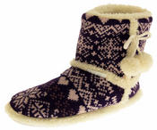 Ladies De Fonseca Fairlisle Knitted Slipper Boots Thumbnail 8