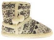 Ladies De Fonseca Fairlisle Knitted Slipper Boots Thumbnail 3