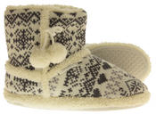 Ladies De Fonseca Fairlisle Knitted Slipper Boots Thumbnail 4
