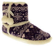 Ladies De Fonseca Fairlisle Knitted Slipper Boots Thumbnail 9