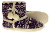 Ladies De Fonseca Fairlisle Knitted Slipper Boots Thumbnail 11