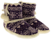 Ladies De Fonseca Fairlisle Knitted Slipper Boots Thumbnail 12