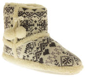 Ladies De Fonseca Fairlisle Knitted Slipper Boots Thumbnail 2