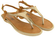 Womens Toe Post Wedge Sandals Thumbnail 5