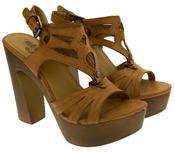 Womens Strappy Platform Sandals Chunky High Heels Thumbnail 5