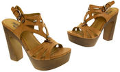 Womens Strappy Platform Sandals Chunky High Heels Thumbnail 7