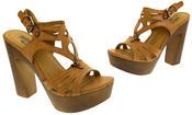 Womens Strappy Platform Sandals Chunky High Heels Thumbnail 7