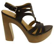 Womens Strappy Platform Sandals Chunky High Heels Thumbnail 2