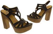 Womens Strappy Platform Sandals Chunky High Heels Thumbnail 6