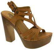 Womens Strappy Platform Sandals Chunky High Heels Thumbnail 4