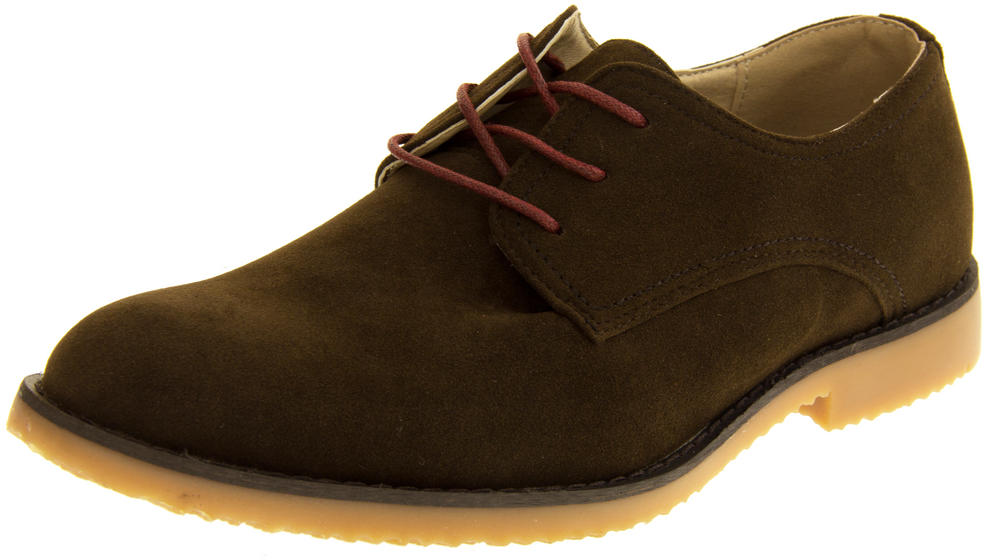 Mens Faux Suede Lace Up Shoes