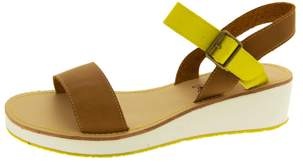 Womens BETSY Wedge Heel Strappy Sandals