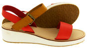 Womens BETSY Wedge Heel Strappy Sandals Thumbnail 9