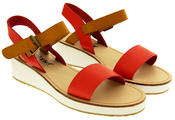 Womens BETSY Wedge Heel Strappy Sandals Thumbnail 10